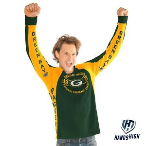 GREEN BAY PACKERS UNISEX LONG SLEEVE SHIRT -GREAT FOR FALL WEATHER -SLEEVES LOGO