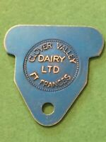 Vintage Token, Clover Valley Dairy Ft. Francis 1 Quart Milk Coin Token T8