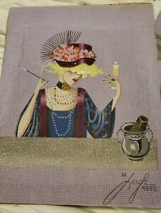 Leigh Floozies CHAMPAGNE CORLISS #4892 Hand Painted Needlepoint Canvas 11x14