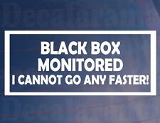 BLACK BOX MONITORED  Funny New/Young Driver Car/Window/Bumper Sticker