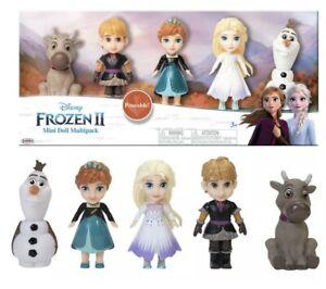 Disney Frozen II Gift Pack Princess Doll Set BNIB Elsa Anna Olaf Sven Dolls NEW