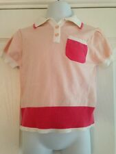 BNWT NEXT Pink Fine Knit Polo Shirt Top 2-3 Years