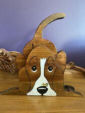 Basset Hound Book Ends-Wood