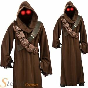Mens Jawa Star Wars Costume Licensed Halloween Adult Fancy Dress Outfit