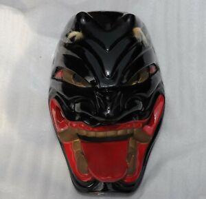 Unusual Japanese pottery Hannya demon mask