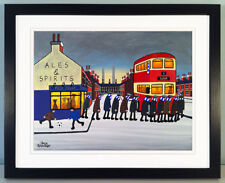 """JACK KAVANAGH """"GOING TO THE MATCH"""" OLDHAM FRAMED PRINT"""