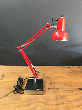 Adjustable & Swivel Arm Weighted Base Vintage Electrix Red Desk Table Lamp