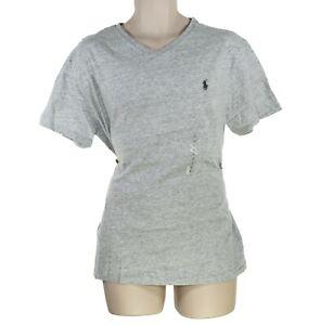 Polo Ralph Lauren Men's Grey V-Neck T-Shirt Size L, NWT