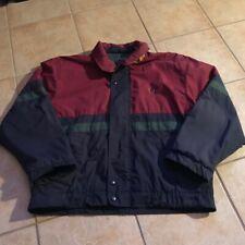 Vtg Bugle Boy Company Color Block Ski Jacket Parka Coat Fleece Lined Large