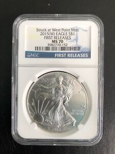 2015 - (W)$1 FIRST RELEASES NGC-MS-70  RARE