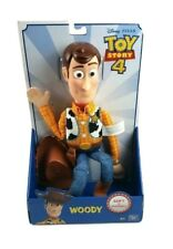 "Disney Pixar Toy Story 4 Sheriff Woody 16"" Action Figure Soft & Huggable New"