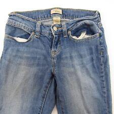 Gap Women's Blue Jeans Size 0/24 Skinny Slim Tapered Leg 26x24 Denim Pants