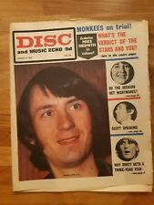 Disc and Music Echo newspaper Monkees cover March 4th 1967