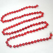 Large Bead Red Mercury Glass Christmas Garland