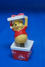 Winnie the Pooh Christmas Present Bobble Resin Figurine Disney
