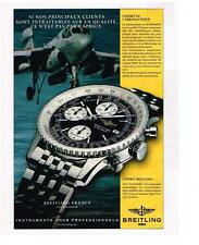 PUBLICITE ADVERTISING   1999   BREITLING   collection OLD NAVITIMER montre