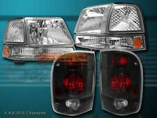 1998-2000 FORD RANGER HEADLIGHTS & CLEAR CORNER  LIGHTS & TAIL LIGHTS DARK SMOKE