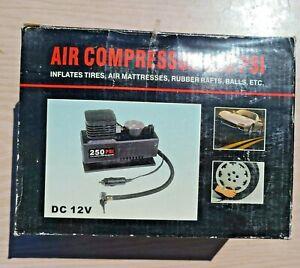 Air Compressor 250 PSI DC 12V Portable Tire Inflator, air mattresses, balls, etc