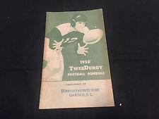 1950 COLLEGE FOOTBALL TWEEROY SCHEDULE BOOKLET FROM DEPARTMENT STORE
