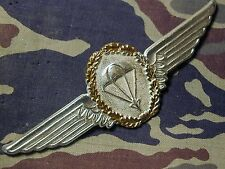 Old Obsolete Germany German Master Parachutist Jump wings metal Badge B&T 1197