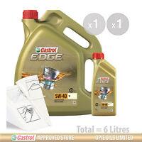Car Engine Oil Service Kit / Pack 6 LITRES Castrol Edge 5W-40 M 6L