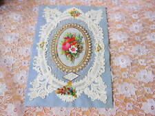 Victorian Paper Lace Valentine Card