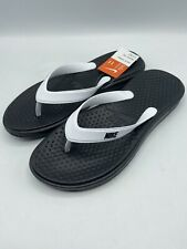 Nike Solay Thong Flip Flops Sandals Men's Size 11 White Black 882690-100 NWT