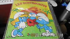ALBUM PANINI LES SCHTROUMPFS à moitié  COMPLET  environ 1982