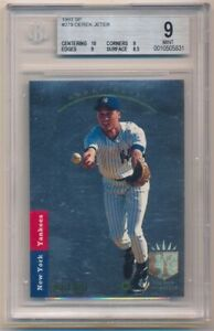 DEREK JETER 1993 SP FOIL #279 RC ROOKIE CARD NEW YORK YANKEES BGS 9 MINT W/ 10