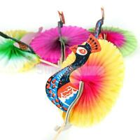 50pcs Colorful Peacock Sticks Cocktail Drink Fruit Cake Snacks Picks Party Decor