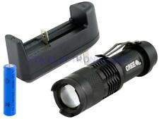 4PCS Mini 1000LM 1Mode Adjustable Focus Q5 LED Police Flashlight Torch Lamp