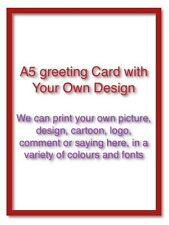 Hand Made Greeting Card  with Your Own Design