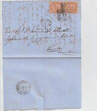 ITALIA 1866 COPPIA 10C SU LETTERA PER FINALE NELL EMILIA .NUMERALE 18