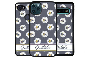 Blue Honey Bumble Bee Bees Personalized Phone Case for Apple Samsung LG Google