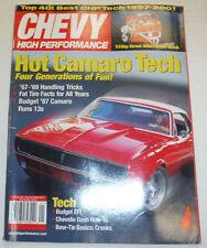 Chevy High Performance Magazine Camaro Tech Handling Tricks January 2002 122614R