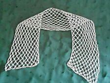 Fine Hand Crochet White Lace Collar In Very Good Condition, Circa 1930