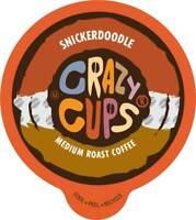 Crazy Cups Flavored Coffee for Keurig K Cups 2.0 Brewer Snickerdoodle 22ct