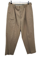 LL BEAN Classic Fit Khakis Chinos Tan Beige Pleated Pants 36 36 x 30