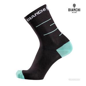 Bianchi Milano ORETO Coolmax Cycling Socks : BLACK/CELESTE