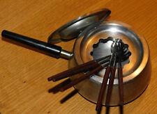 vintage SWISS MADE SIGG recipient casserole COCOTTE à FONDUE en INOX marmite POT