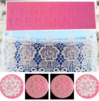 Silicone Lace Mold Mould Sugar Craft Fondant Mat Cake Decorating Baking Tool