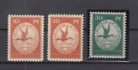 CP7439/ GERMANY REICH – AIRMAIL - MI # I / III COMPLETE MINT MNH – CV 275 $