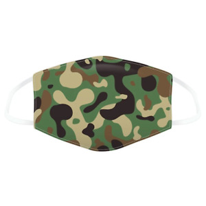 Camouflage Reusable Face Covering - Adults