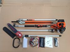 "LONG REACH Petrol swivel Chainsaw Pruner & 22"" Hedge Trimmer & Extention 9s"