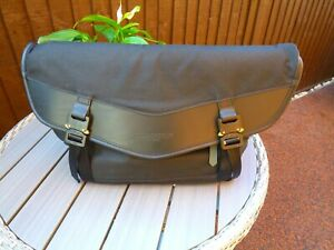 Waxed Cotton Messenger Bag by Bedouin Foundry Black