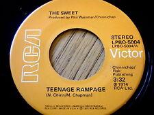 """THE SWEET - TEENAGE RAMPAGE  7"""" VINYL"""
