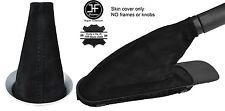 BLACK STITCH REAL SUEDE GEAR & HANDBRAKE BOOT FOR BMW MINI COOPER R55 R56 R57