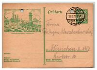 Danzig 1928 Postal Card ( Mi# P45) Used / Punch-holes - Z13890