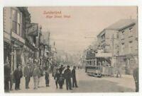 Sunderland High Street West 1907 Postcard Hartmann Tram 311c