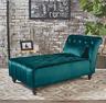 Velvet Chaise Lounge Chair Wide Sofa Green Bedroom Loveseat Living Room Hall New